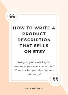 Are product descriptions really that important? If your sales are stagnating on Etsy, you can use your product descriptions to increase conversion rate time and again. Learn how in this live shop critique. Click to watch. #onlinebusiness #followback #entrepreneur