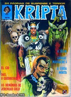 Revista Kripta #4 - RGE (1976) - Quadrinhos de terror, suspense, ficção e sobrenatural