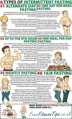 Want to learn which type of intermittent fasting is right for you? Then take a look at these six types of intermittent fasting. of Diet 6 Types Of Intermittent Fasting - Free Fitness Tips Weight Loss Meals, Weight Loss Tips, Losing Weight, Weight Loss Exercise Plan, Weight Loss Diet Plan, Weight Loss Program, Sport Fitness, Fitness Diet, Health Fitness