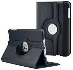 """myLife Deep Galaxy Black {Bold Professional Executive Modern} 360 Degree Rotating Case for Apple iPad Mini 1, 2 and 3 (High Quality Koskin Faux Leather Cover + Slim Lightweight Design) """"All Ports Accessible"""" myLife Brand Products http://www.amazon.com/dp/B00T89KMX4/ref=cm_sw_r_pi_dp_qhZavb0C4QVPP"""