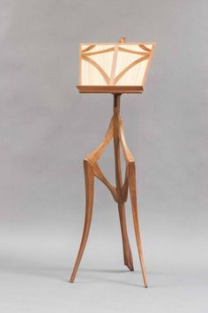 Fiddler Mantis « The Krenov School of Fine Furniture Fine Furniture, Wooden Furniture, Table Desk, Table Lamp, Sam Maloof, Music Stand, Wood Art, Wood Crafts, Wood Projects