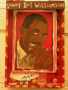 Sonny Boy Williamson - Blues ARt - Shadow Box - Blues ARt