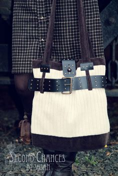 Belted Sweater Purse