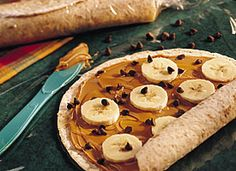 Peanut butter and banana wraps