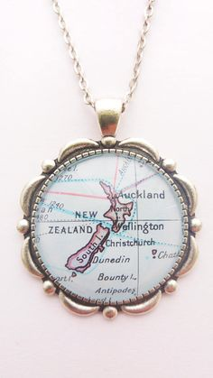 New Zealand Map Pendant Auckland Wellington Antique Silver Heavy Water, Large Envelope, Small Gift Bags, Auckland, Antique Silver, New Zealand, Buy And Sell, Map, This Or That Questions