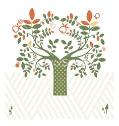 Fantasy design with tree vector by cyberok on VectorStock®