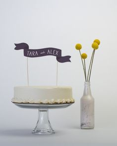 Cake topper and flowers