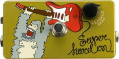 ZVex Hand-Painted Super Hard On Boost Guitar Effects Pedal