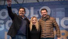 """Meloni-Salvini in piazza, mano tesa a Forza Italia ma """"subito al voto"""""""