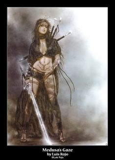 Luis Royo's Medusa's Gaze.  I wish I could be a warrior chick like this ;p