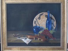 """Violin With Blue  16"""" x 20"""""""