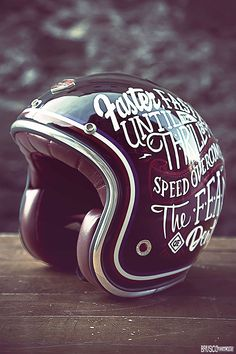 I'd sport this sweet motorcycle helmet. #caferacer #hd #moto