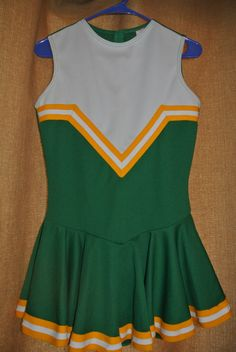 Vintage Retro Green Cheerleader Uniform Sz M by Catherinee8u, $23.50