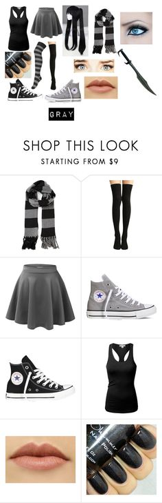"""creepypasta (oc)"" by ironically-a-strider21 ❤ liked on Polyvore featuring Golden Goose, LE3NO, Converse and J.TOMSON"