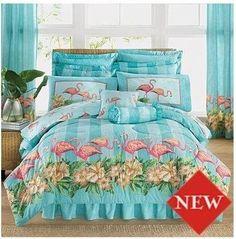 Tropical Flamingos Queen Comforter Set (4 Piece Bedding) by Flamingos, http://www.amazon.com/dp/B0083KSBK0/ref=cm_sw_r_pi_dp_jn6Ypb0667TN9