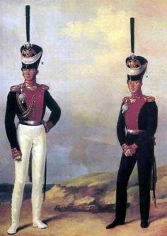 Dwaj kapitanowie Moskiewskiego Pułku Lejb-Gwardii