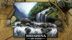 How to draw a Waterfall with soft pastels 🎨 Sheshina Ekaterina