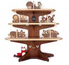 Funny Handmade Kid Bookshelves Design