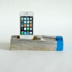 Painted Driftwood Dock Electrict Blue For an iPhone | domino.com