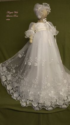 2016 Lace Heirloom Gown Long Baby Girls Newborn Baptism Rope Christening Dress blessing Gown With Bonnet ** Be sure to check out this awesome product.