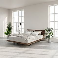 The Floyd Platform Bed in birch offers a modern look that fits with any home. Requires no tools for assembly and ships straight to your door. Bedroom Doors, Home Bedroom, Modern Bedroom, Bedroom Wall, Master Bedroom, Modern Minimalist Bedroom, Bedroom Ideas, Modern Platform Bed, Bed Platform
