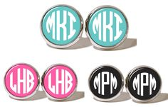 PERSONALIZED STUD EARRINGS.  Many colors to choose from! #personalized #cute #earrings #jewelry