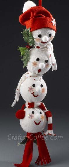 How to turn an old sock into a Snowman Swag