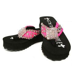 662053b91a57f Gypsy Soule Stiletto Embellished Flip Flops