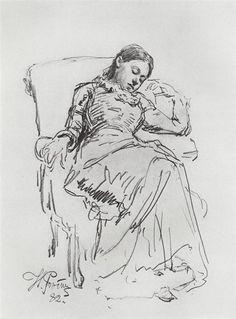 Ilya Repin Leisure, 1882