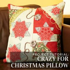 Add this pillow to your holiday decorations with this tutorial from Embroidery Library.