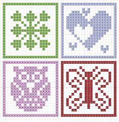 Kreuzstich Vorlagen von Stickeules Freebies