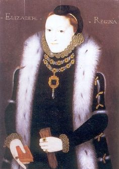 Elizabeth I: The Clopton Portrait, c1560, unknown artist. This is a rare image of Elizabeth during the early years of her reign.  It's one of my fav's of her