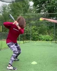 """Love this drill to work on a """"quick bat"""" through the zone and promote a powerful swing! Give this one a try in your next training session! Hitting Drills Softball, Softball Memes, Softball Workouts, Softball Coach, Girls Softball, Fastpitch Softball, Softball Players, Softball Things, Softball Stuff"""