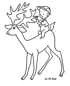 Christmas Elf Coloring Pages Holiday Coloring Pages Pinterest