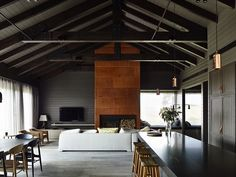 The black house. A contemporary take on a traditional farm house from Canny Architecture set on the rolling hills of Flinders on the Mornington Peninsula.
