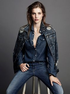 visual optimism; fashion editorials, shows, campaigns & more!: denim bible: astrid baarsma by jimmy backius for elle sweden october 2013