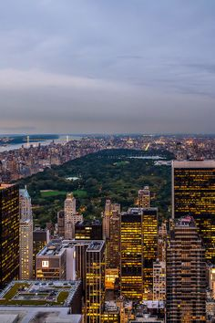 NYC. Central Park at dusk, looking north