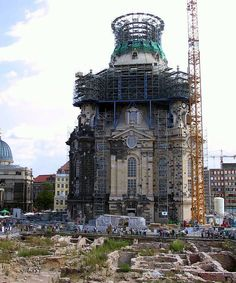 Reconstruction of the Frauenkirche Dresden Germany, Kirchen, Big Ben, Wwii, Amsterdam, Berlin, Wordpress, Old Things, Boat