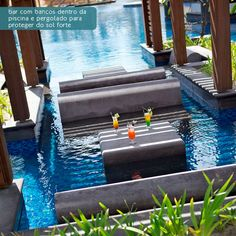Bar in the pool.