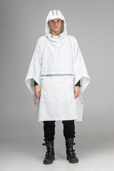 Poncho Raincoat, Hooded Poncho, Hooded Raincoat, Rain Poncho, Waterproof Poncho, Waterproof Rain Jacket, Rain Slicker, Urban People, Black Poncho