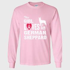 This Girl Loves Her German Sheppard Tshirt - Long Sleeve T-Shirt