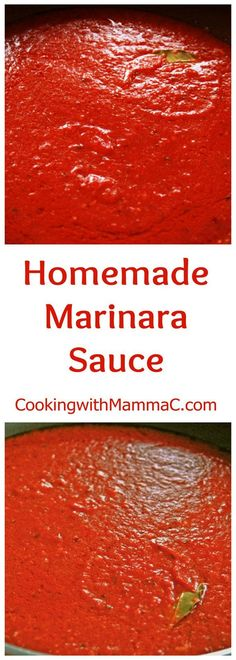 My Homemade Marinara Sauce is so quick, easy and delicious! Forget jarred tomato sauce. This has no sugar and is vegan and gluten free. #SimpleItalianRecipes