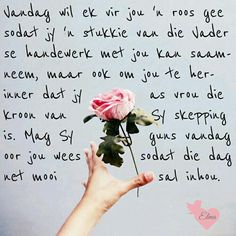 Lekker Dag, Blessed Assurance, Afrikaanse Quotes, Goeie More, Gods Grace, Positive Thoughts, Bible, Positivity, Passion