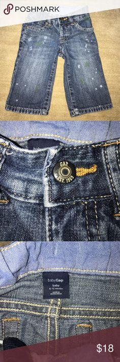 Baby Gap Boys Pain Splatter Jeans 6-12 M EUC Adorable edgy baby jeans! My son wore these only once. GAP Bottoms Jeans