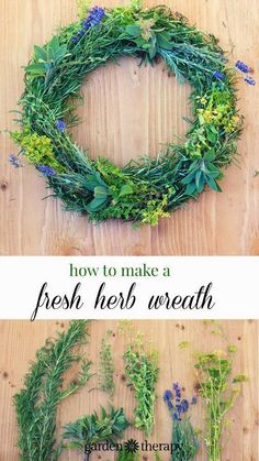 A fresh herb wreath is created in the late summer or fall as a way to harvest and dry garden herbs. They smell like heaven too!