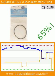 Culligan OR-233 3-Inch Diameter O-Ring (Tools & Hardware). Drop 65%! Current price C$ 2.58, the previous price was C$ 7.45. https://www.adquisitiocanada.com/culligan/or-233-3-inch-diameter-o
