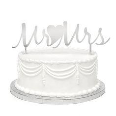 Mr. & Mrs. Metal Cake Pick - Wedding Cake Topper Ideas - Wedding Cake Toppers