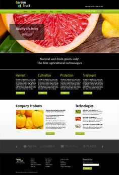Free HTML5 Agro Theme with jQuery Fade Slider