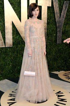 Zooey Deschanel - Valentino Resort 2013 - Gala de Vanity Fair en la noche de los Oscares 2013