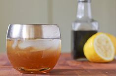 Whiskey Sour Cocktail with Fresh Lemon